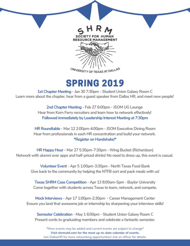 Dallas Calendar Of Events 2019 Calendar of Events – Society for Human Resource Management at UT